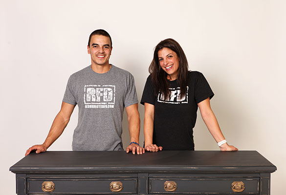 Jimmy and Danielle the Owners of Resurrected Furniture Design LLC