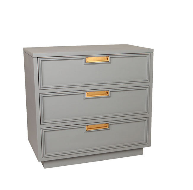 Mackenzie grey with gold handles