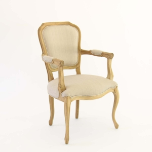 French Country Armed Chair Side
