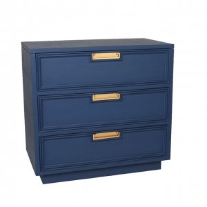 Cobalt with gold handles